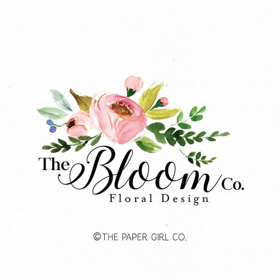 Florist Logo Floral Logo Flower Logo Wedding Logo Event