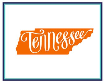 Tennessee Decal - Tennessee Car Decal - Tennessee Laptop Decal - State Decal - Tennessee Yeti Decal - State Tennessee Decal - Home State