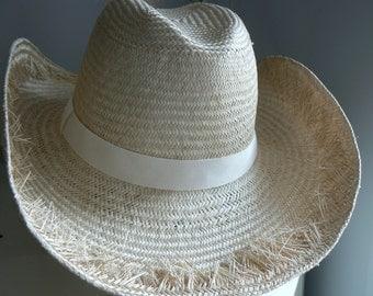 New White  Wide Brim Hat