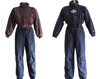 1990s belted reversible ski suit