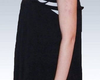 Black&white tunic cotton, for women and girls