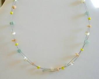 Floating Illusion Patel Beaded Necklace