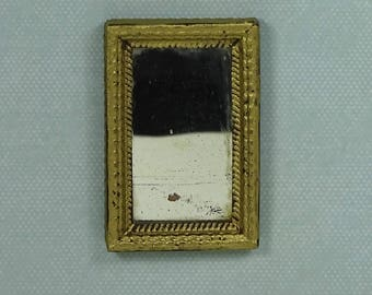 Doll house vintage mirror 1920s gold