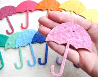 20+ Seed Paper Baby Shower Favors - Plantable Flower Seed Paper Umbrella - Baby Shower Favor - Sprinkle Card - Shower mom with love