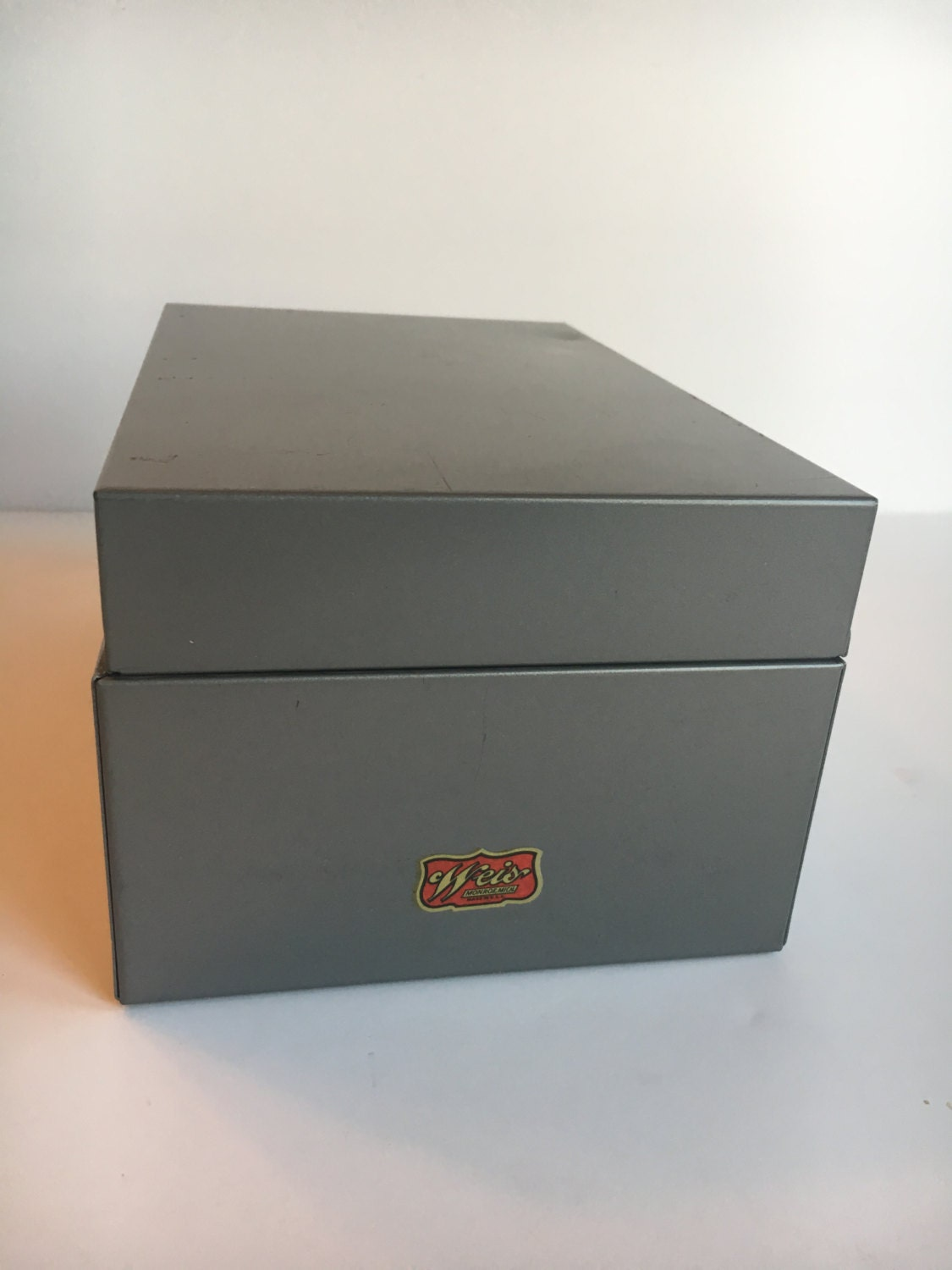 File Cards 10 Heart Svg: Weis Metal Index Card File Box W/ A-Z Dividers And Index