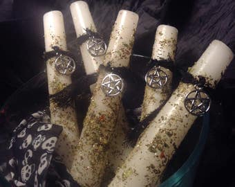 Cleansing and Clearing Spell Candles Ritual Supplies for protection and purifying Loaded candles
