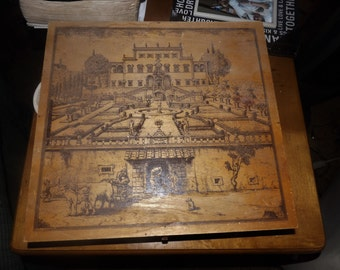 Vintage Artists/Painters Box with Scene SOLD