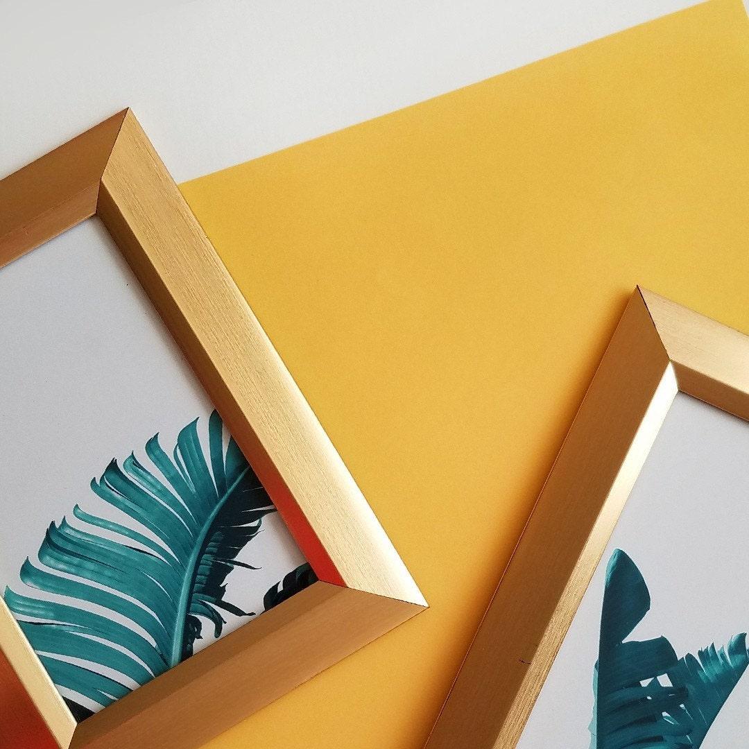 Minimalist photography art print tropical leaves wall art