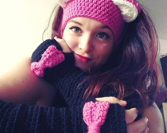 Create your own design - Crochet Slouchy Arm Warmers with Bows