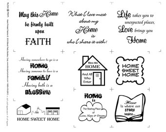 Home Sweet Home Fabric Panel