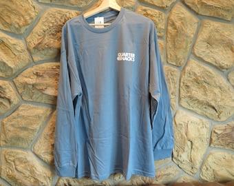 Quartersnacks NY Long sleeve shirt - Size XL, Slate Blue