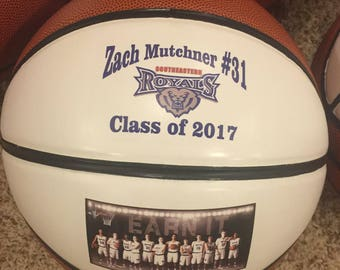 Personalized Regulation Size Basketballs for Coaches' Gifts, Senior Gifts, Team Awards, and Basketball Gifts