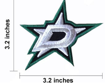 Dallas Stars Logo Embroidered Iron On Patch.