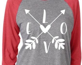 Love Arrows Raglan Shirt