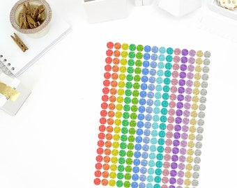 Glitter To Do Dots Stickers! Perfect for your Erin Condren Life Planner, calendar, Paper Plum, Filofax!