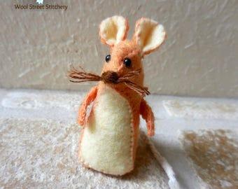 Small stuffed mouse, handmade felt mouse, soft toy, felt stuffed animal