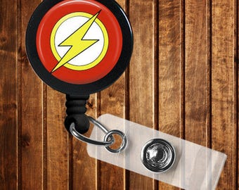 Nurse Heroes Badge reel for lanyard key ID badge Comic Con Flash Green Lantern Batman Wolverine