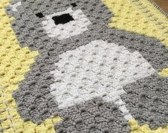 Teddy Bear Blanket, Baby Gift, Nursery Decor