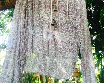 Vintage 70's Indian gauze blouse