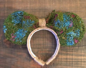 Moss wall, mossy wall, pandora, moss ears, topiary ears, pandora ears, moss wall ears, hub grass ears, avatar ears, burlap, hubgrass