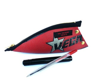 pencil pouch blue red, star, boys gift practical, athletic, gift extraordinary, School, recycling, student, sport, athlete, cool, red, blue