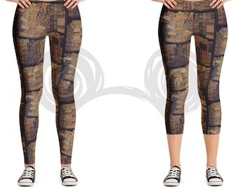 Ollivanders Wand Shop Inspired Women's Leggings, Harry Potter Stretch Leggings / Capri