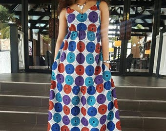 Yaya African Print Maxi Dress/ Ankara Dress / Ankara Gown