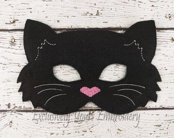 Cat Children's Mask  - Costume - Theater - Dress Up - Halloween - Face Mask - Pretend Play - Party Favor