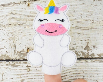 Unicorn Felt Finger Puppet - Pretend Play - Party Favors - Birthday - Paw Patrol - Travel Toy - Quiet Game - Quiet Play