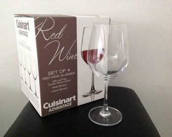 Cuisinart Advantage Glassware Essentials Collection Red Wine Glasses, Set of 4