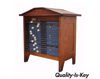 Vintage printers cabinet | Etsy