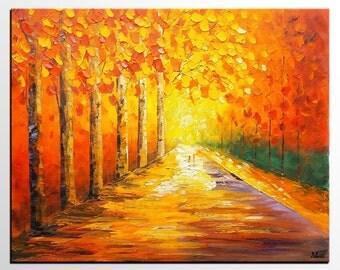 Wall Art, Abstract Art, Oil Painting, Oil Painting, Autumn Painting, Landscape Painting, Abstract Painting, Large Art, Canvas Art, Wall Art