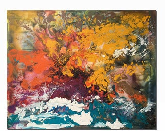 Abstract Art Painting, Large Canvas Art, Wall Art Decor, Contemporary Painting, Autumn Painting, Wall Art, Abstract Art, Acrylic Painting