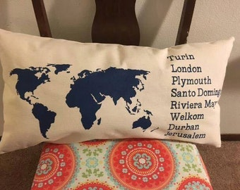 World Traveler Pillow