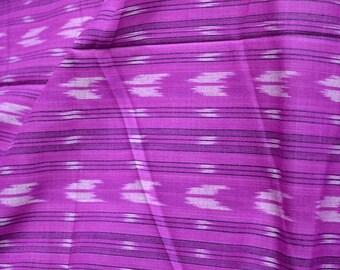 Handloom Ikat Fabric, Indian Cotton Fabric - Ikat for cushion covers, Ikat Pattern Cotton Fabric by the yard Homespun Ikat