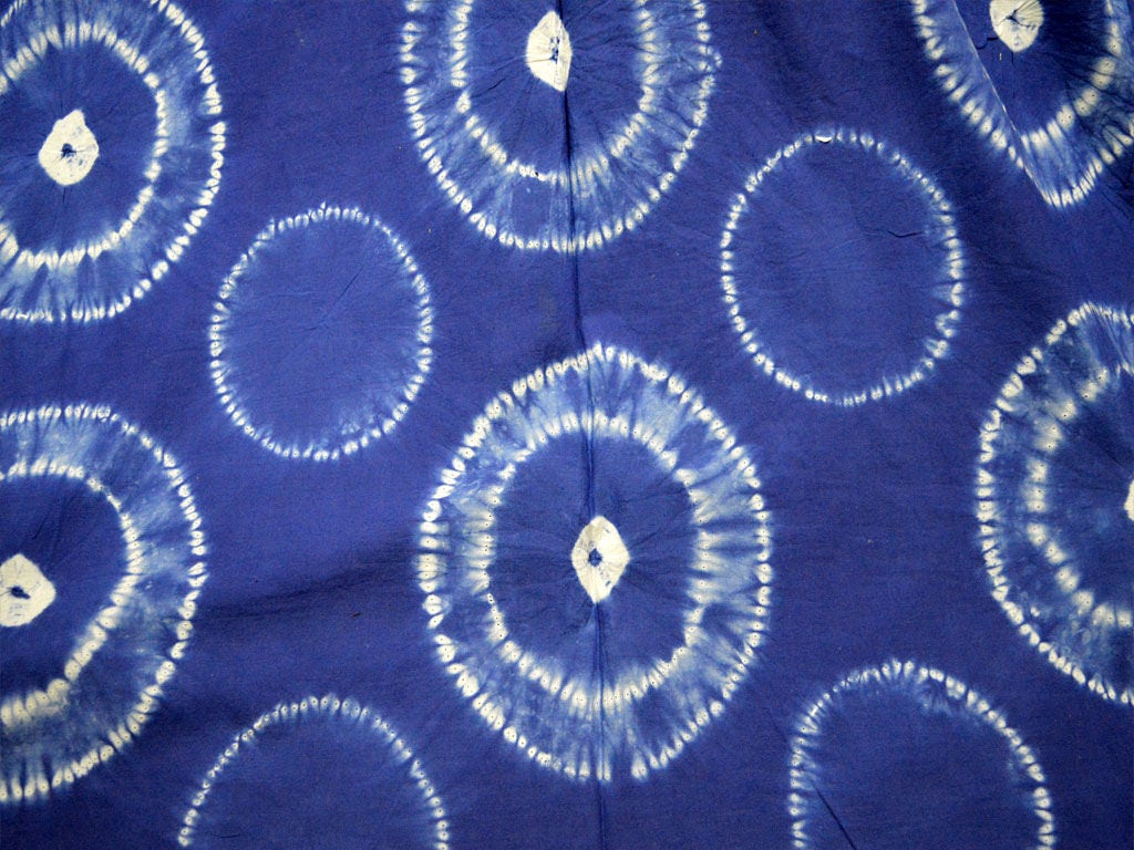 Tie Dye Indigo Fabric By The Yard Indian Cotton Fabric