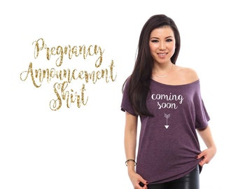coming soon Pregnancy Announcement Shirt Cute Gender Reveal Idea Funny T Shirts Bridal Shower Gift Pregnancy Shirt Maternity Shirt Gift