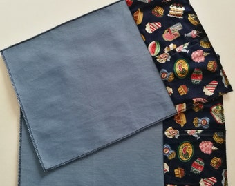 Set two vintage themed food placemats