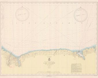 Lake Ontario - Little Sodus Bay to Charlotte Map 1943