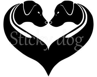 Rhodesian Ridgeback silhouette sticker