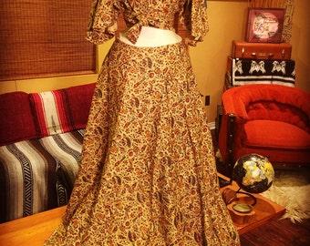 Vintage Bohemian Skirt and Top