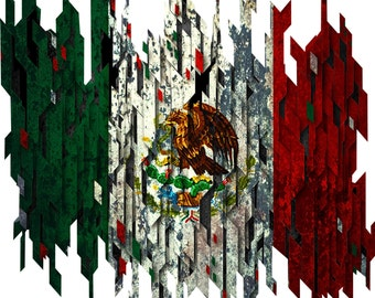 Distressed Mexico flag decal, full color Mexico flag decal, Mexico flag sticker, Mexico flag laptop sticker, vinyl decal, vinyl sticker