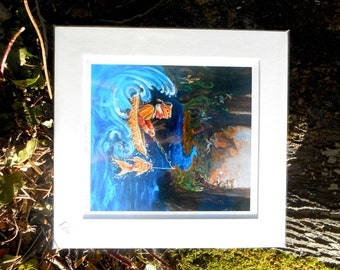 Yashka and The Witch - Large Mounted Fine Art Giclee Print