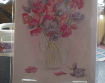 A Bunch of Flowers in a Vase Notelet