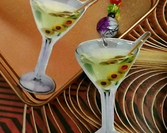 Large Martini Earrings