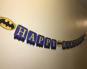 Batman birthday banner