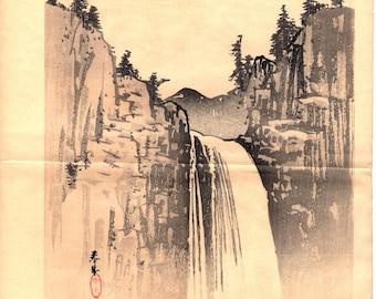1913, Japanese antique woodcut print, Yamamoto Shunkyo.