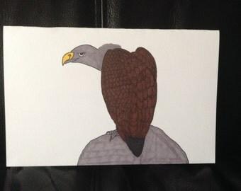 Vulture Handpainted Drawing