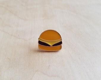 Cheese Burger Enamel Pin