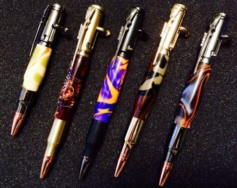 Replica 30 caliber bullet pen with bolt action - Bullet Pen Medium